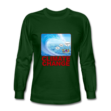 Load image into Gallery viewer, Climate Change - Men's Long Sleeve T-Shirt - forest green