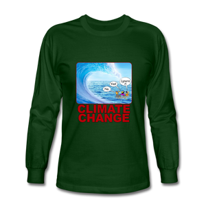 Climate Change - Men's Long Sleeve T-Shirt - forest green