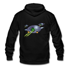 Load image into Gallery viewer, Alien Pee - Unisex Fleece Zip Hoodie - black