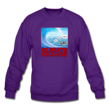 Load image into Gallery viewer, Climate Change - Crewneck Sweatshirt - purple