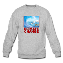 Load image into Gallery viewer, Climate Change - Crewneck Sweatshirt - heather gray