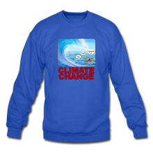 Load image into Gallery viewer, Climate Change - Crewneck Sweatshirt - royal blue