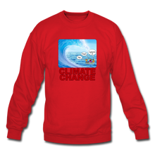 Load image into Gallery viewer, Climate Change - Crewneck Sweatshirt - red