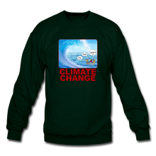 Load image into Gallery viewer, Climate Change - Crewneck Sweatshirt - forest green