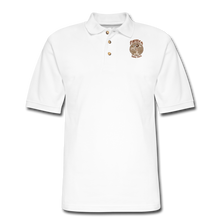 Load image into Gallery viewer, Retro Rantdog Since 1909 - RanMen's Pique Polo Shirt - white