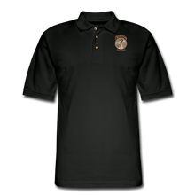 Load image into Gallery viewer, Retro Rantdog Since 1909 - RanMen's Pique Polo Shirt - black