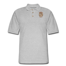 Load image into Gallery viewer, Retro Rantdog Since 1909 - RanMen's Pique Polo Shirt - heather gray