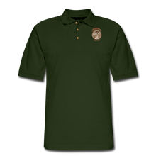 Load image into Gallery viewer, Retro Rantdog Since 1909 - RanMen's Pique Polo Shirt - forest green