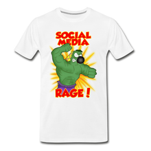 Load image into Gallery viewer, Social Media Rage - Men's Premium T-Shirt - white