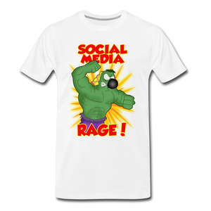Social Media Rage - Men's Premium T-Shirt - white