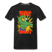 Load image into Gallery viewer, Social Media Rage - Men's Premium T-Shirt - black