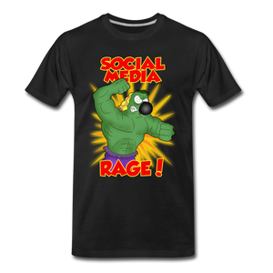 Social Media Rage - Men's Premium T-Shirt - black