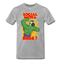 Load image into Gallery viewer, Social Media Rage - Men's Premium T-Shirt - heather gray