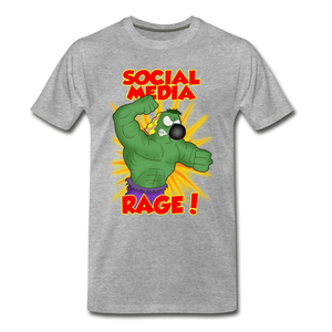 Social Media Rage - Men's Premium T-Shirt - heather gray