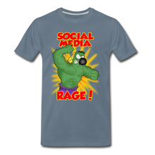 Load image into Gallery viewer, Social Media Rage - Men's Premium T-Shirt - steel blue