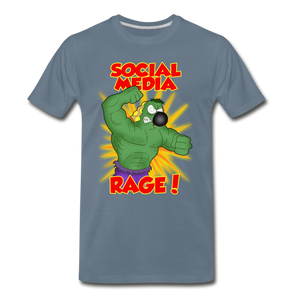 Social Media Rage - Men's Premium T-Shirt - steel blue