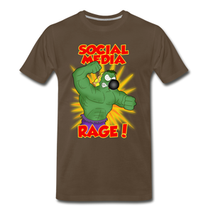 Social Media Rage - Men's Premium T-Shirt - noble brown