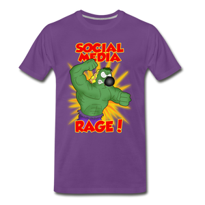 Social Media Rage - Men's Premium T-Shirt - purple