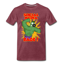 Load image into Gallery viewer, Social Media Rage - Men's Premium T-Shirt - heather burgundy