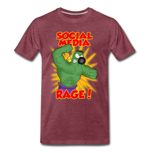 Social Media Rage - Men's Premium T-Shirt - heather burgundy