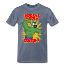 Load image into Gallery viewer, Social Media Rage - Men's Premium T-Shirt - heather blue