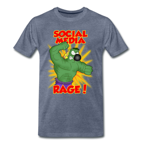 Social Media Rage - Men's Premium T-Shirt - heather blue