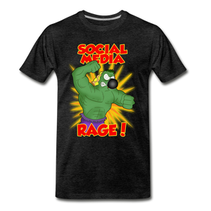 Social Media Rage - Men's Premium T-Shirt - charcoal gray