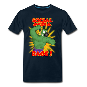 Social Media Rage - Men's Premium T-Shirt - deep navy