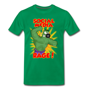 Social Media Rage - Men's Premium T-Shirt - kelly green