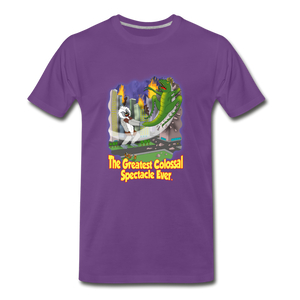 King Cotton Top Let's Fly - Men's Premium T-Shirt - purple