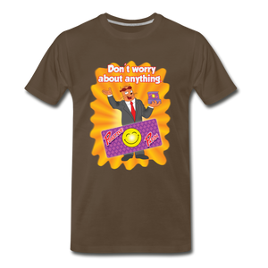 Positive Patch Don't Worry - Men's Premium T-Shirt - noble brown