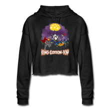 Load image into Gallery viewer, King Cotton Top To The Rescue - Women's Cropped Hoodie - deep heather