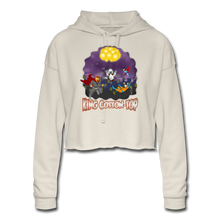 Load image into Gallery viewer, King Cotton Top To The Rescue - Women's Cropped Hoodie - dust
