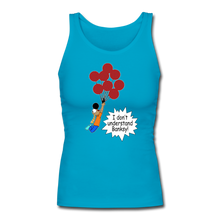 Load image into Gallery viewer, Rantdog Baksy - Women's Longer Length Fitted Tank - turquoise