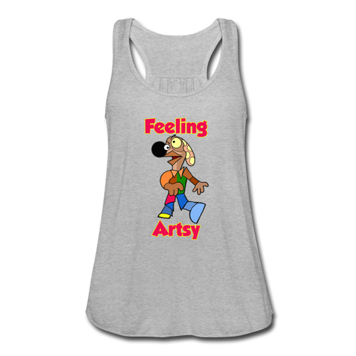 Rantdog Feeling Artsy - Women's Flowy Tank Top by Bella - heather gray
