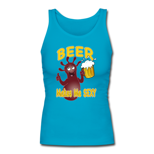 It's Not About Larry Mumba Beer - Women's Longer Length Fitted Tank - turquoise
