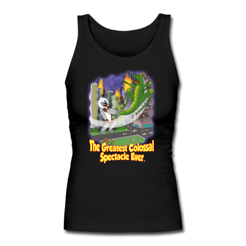 King Cotton Top Let's Fly - Women's Longer Length Fitted Tank - black