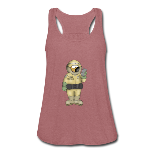 Bomb Disposal - Women's Flowy Tank Top by Bella - mauve
