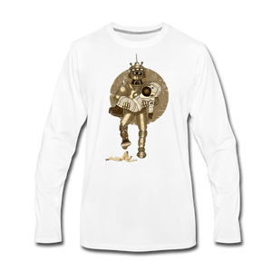 Rantdog & Robot - Men's Premium Long Sleeve T-Shirt - white