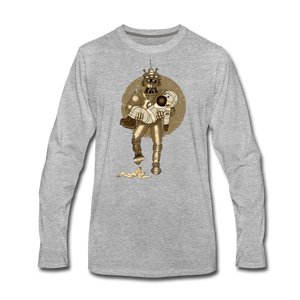 Rantdog & Robot - Men's Premium Long Sleeve T-Shirt - heather gray