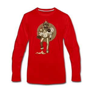 Rantdog & Robot - Men's Premium Long Sleeve T-Shirt - red