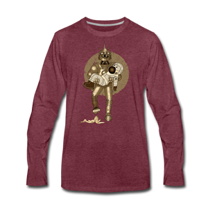 Rantdog & Robot - Men's Premium Long Sleeve T-Shirt - heather burgundy
