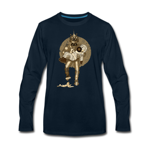 Rantdog & Robot - Men's Premium Long Sleeve T-Shirt - deep navy