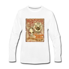 Load image into Gallery viewer, Retro Freakshow Poster - Men's Premium Long Sleeve T-Shirt - white