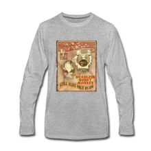 Load image into Gallery viewer, Retro Freakshow Poster - Men's Premium Long Sleeve T-Shirt - heather gray