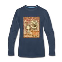 Load image into Gallery viewer, Retro Freakshow Poster - Men's Premium Long Sleeve T-Shirt - navy