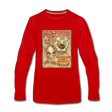 Load image into Gallery viewer, Retro Freakshow Poster - Men's Premium Long Sleeve T-Shirt - red