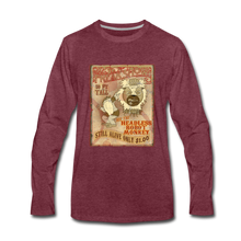 Load image into Gallery viewer, Retro Freakshow Poster - Men's Premium Long Sleeve T-Shirt - heather burgundy