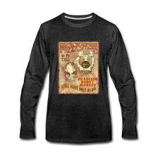 Load image into Gallery viewer, Retro Freakshow Poster - Men's Premium Long Sleeve T-Shirt - charcoal gray