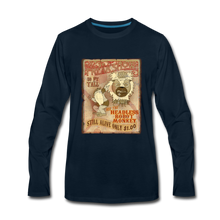 Load image into Gallery viewer, Retro Freakshow Poster - Men's Premium Long Sleeve T-Shirt - deep navy
